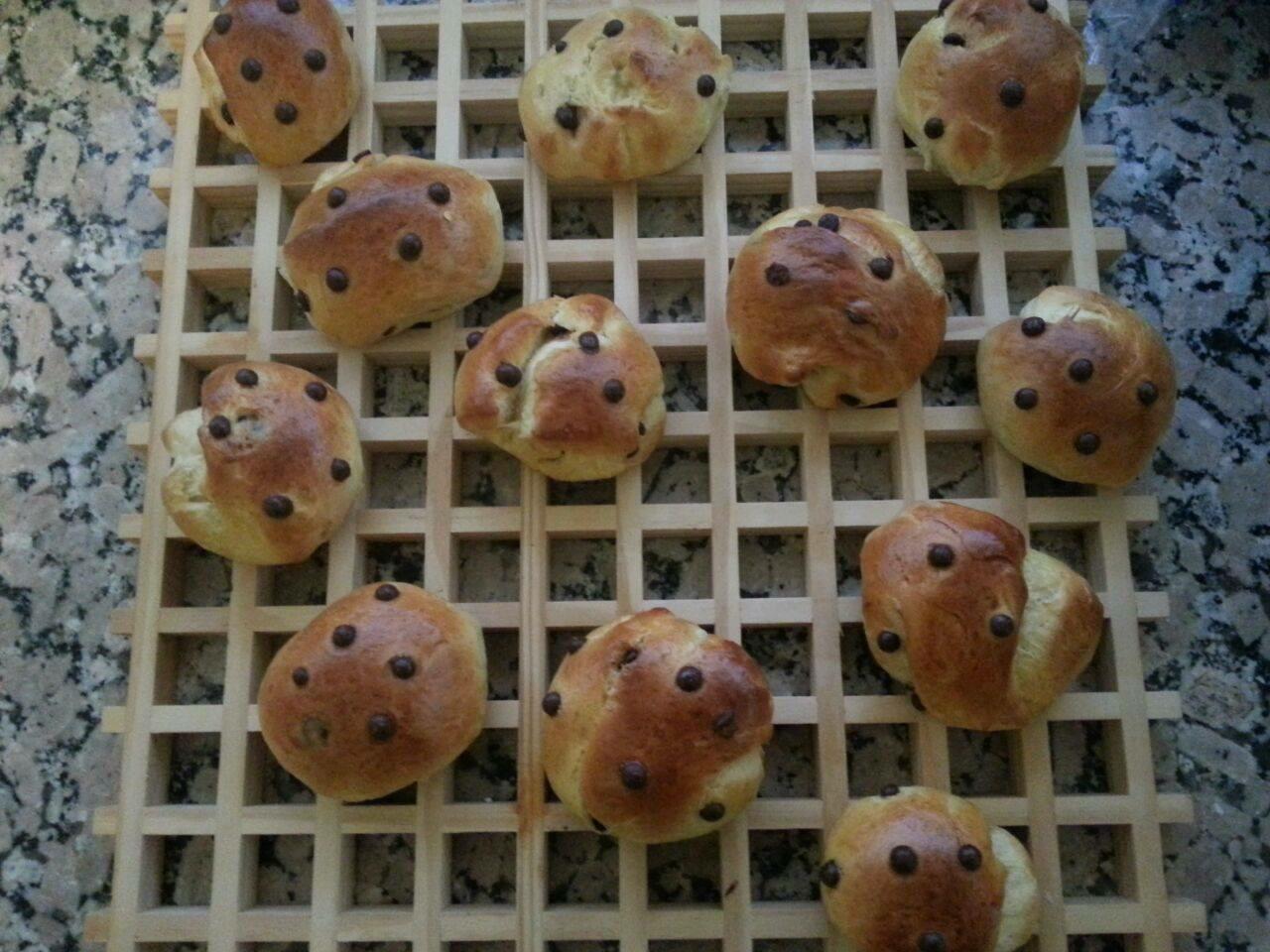 Bollitos con pepitas de chocolate (Doowaps caseros)