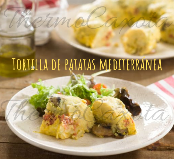 TORTILLA DE PATATAS MEDITERRÁNEA CON Thermomix®