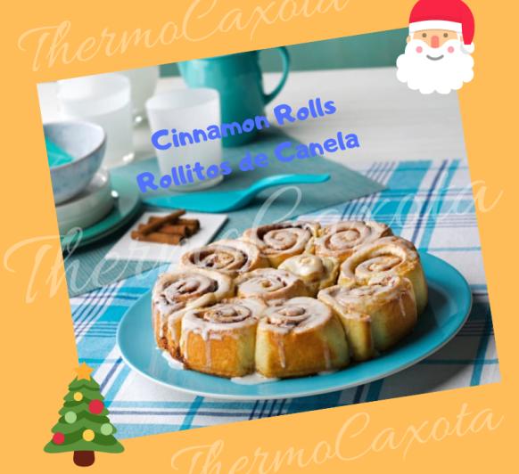 DIA 14 - CINNAMON ROLLS - ROLLITOS DE CANELA CON Thermomix®
