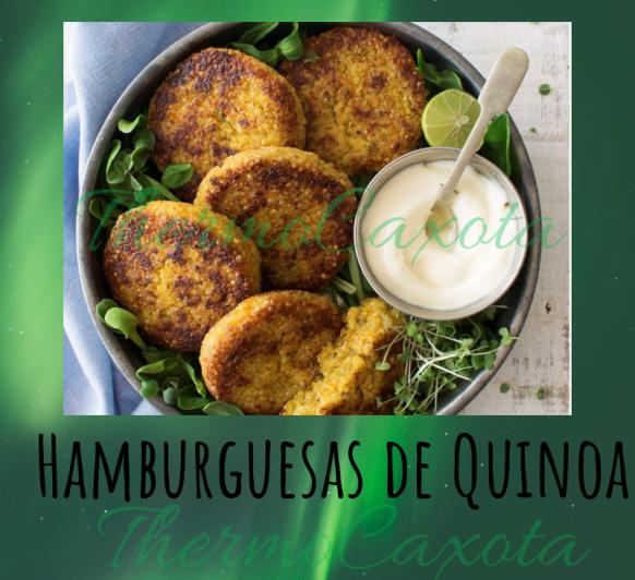 HAMBURGUESAS DE QUINOA CON Thermomix®