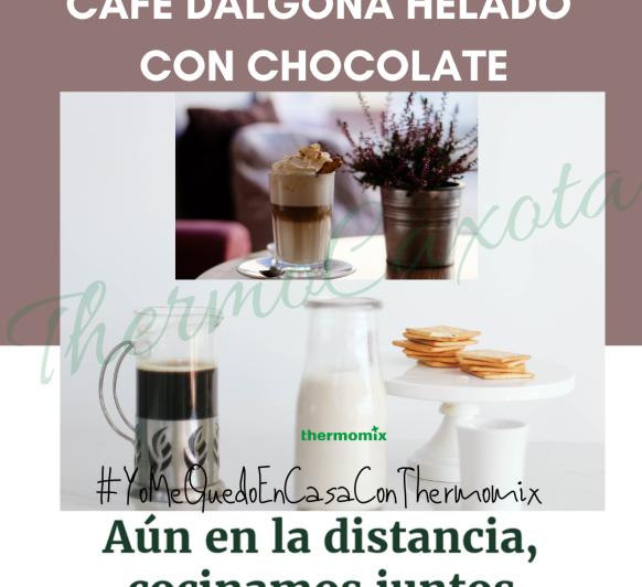 CAFÉ DALGONA HELADO CON CHOCOLATE