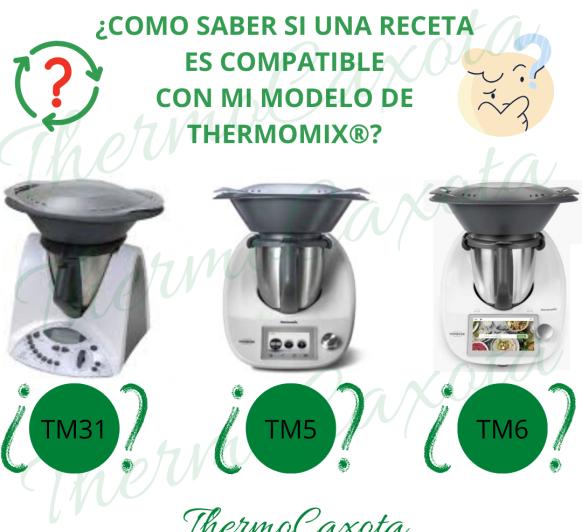 Como saber si una receta es compatible con mi modelo de Thermomix®