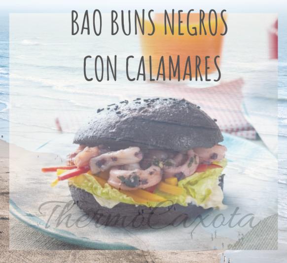 Bao buns negros con calamares con Thermomix®