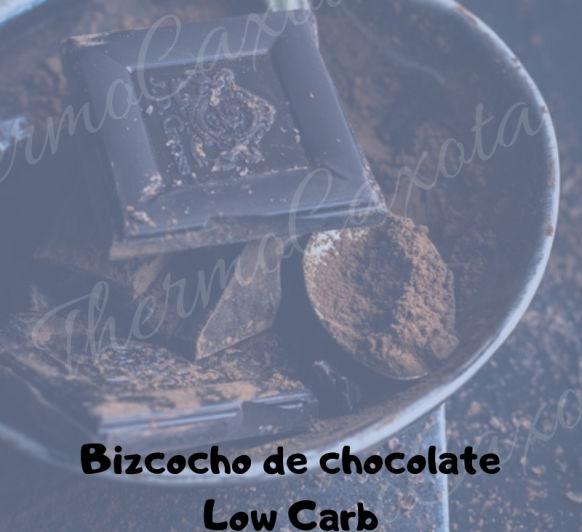 BIZCOCHO DE CHOCOLATE BAJO EN CARBOHIDRATOS (LOW CARB)