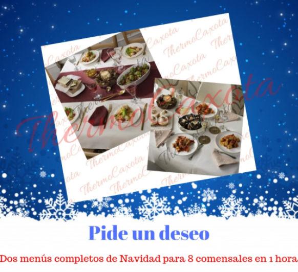 Dos menús completos de Navidad para 8 comensales en 1 hora