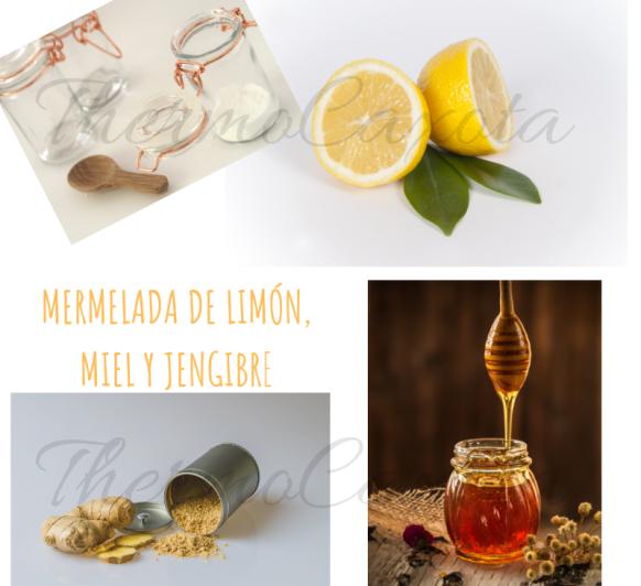 Mermelada de limón, miel y jengibre con Thermomix®