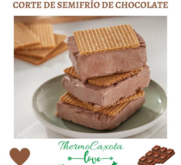 CORTE DE SEMIFRÍO DE CHOCOLATE
